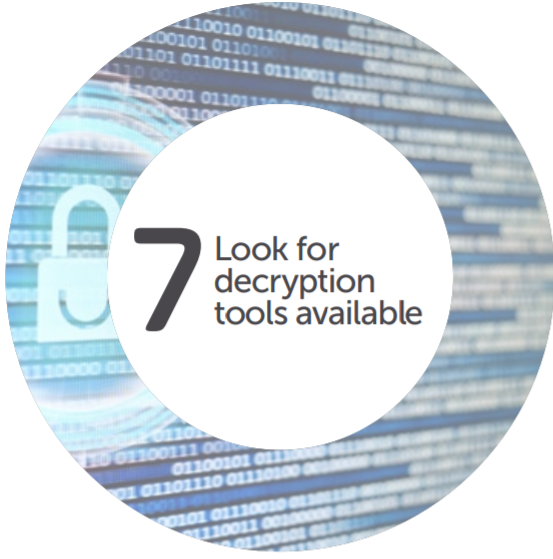 Look for Decryption Tools
