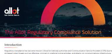 The Allot Regulatory Compliance Solution
