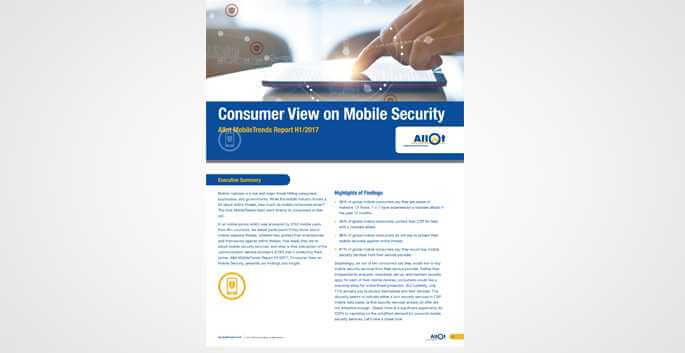 Consumer View on Mobile Security